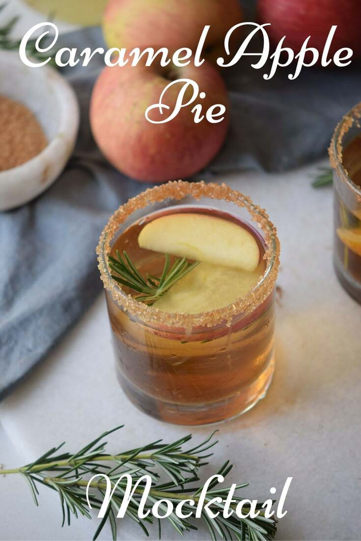 Caramel Apple Pie Mocktail from Merry About Time