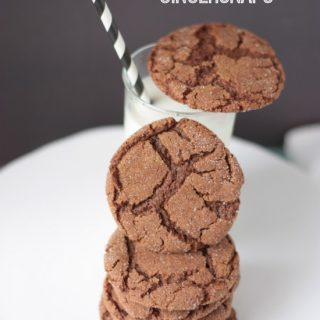 Chocolate Gingersnaps on www.tasteandtellblog.com