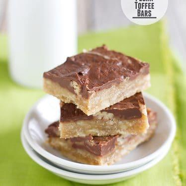 Chocolate Pecan Toffee Bars from www.tasteandtellblog.com