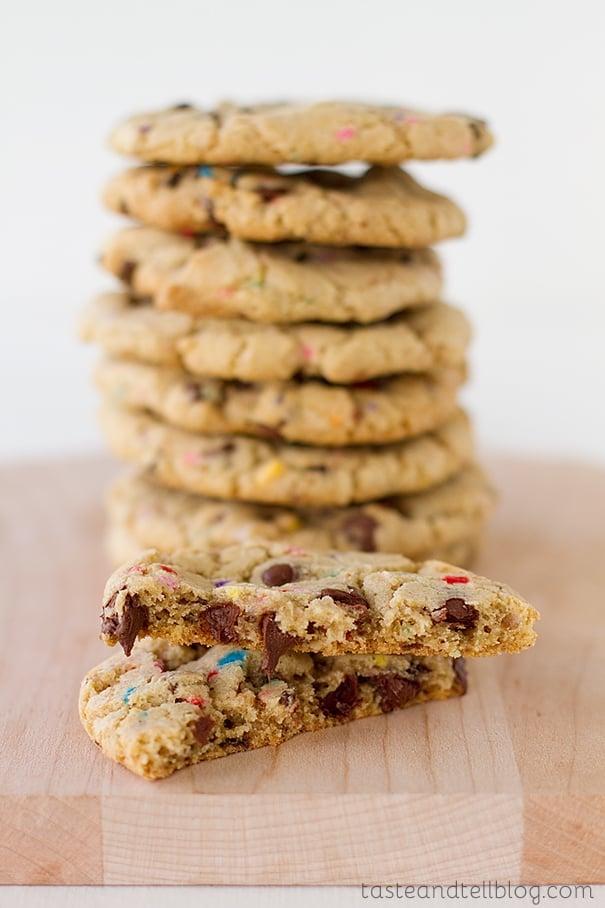 Chocolate Sprinkle Cookies from www.tasteandtellblog.com