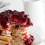 Cranberry Pancake recipe from www.tasteandtellblog.com
