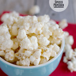 Eggnog Spiced Popcorn from www.tasteandtellblog.com