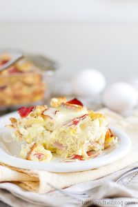 Eggs Benedict Strata on Taste and Tell