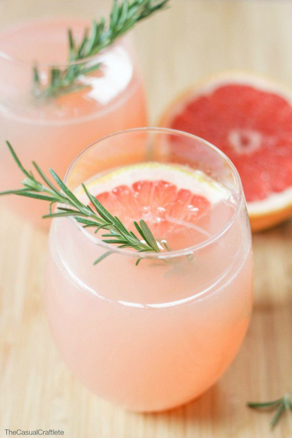 Grapefruit and Rosemary Mocktail from The Casual Craftlete