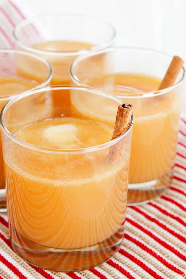A dab of butter adds richness to this flavorful, Hot Buttered Spiced Cider.