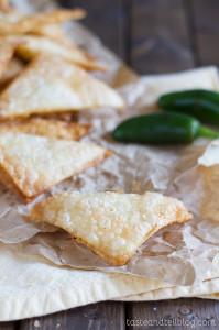 Jalapeño Popper Wonton recipe on Taste and Tell