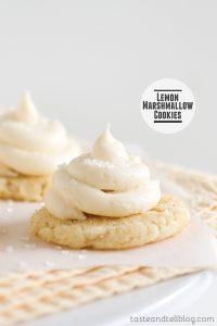 Lemon Marshmallow Cookies from www.tasteandtellblog.com