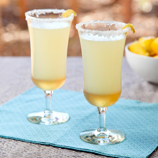 Sparkling Ginger Lemon Mocktail from Snixy Kitchen