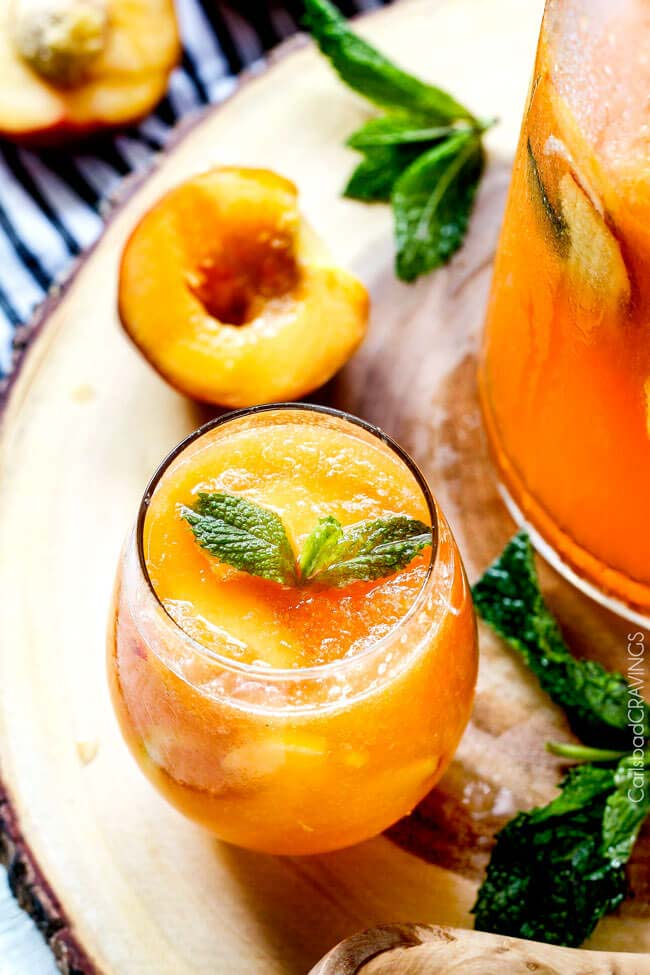 Sparkling Peach Punch from Carlsbad Cravings