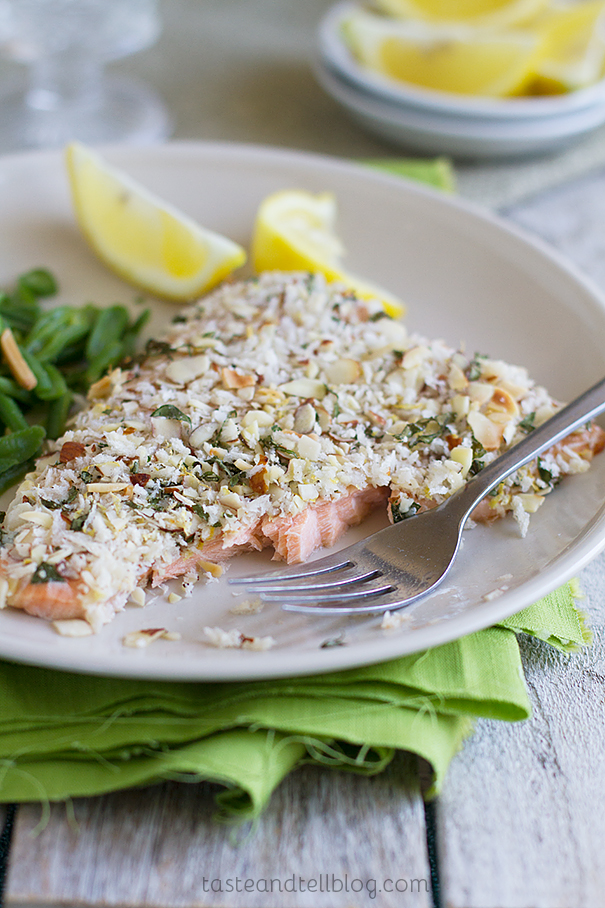 Almond Crusted Salmon - Taste and Tell