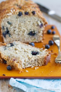 Blueberry Coconut Banana Bread recipe