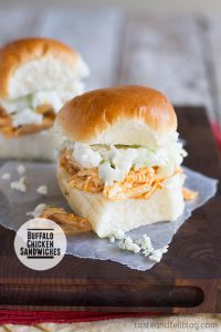 Buffalo Chicken Sandwiches on Taste and Tell