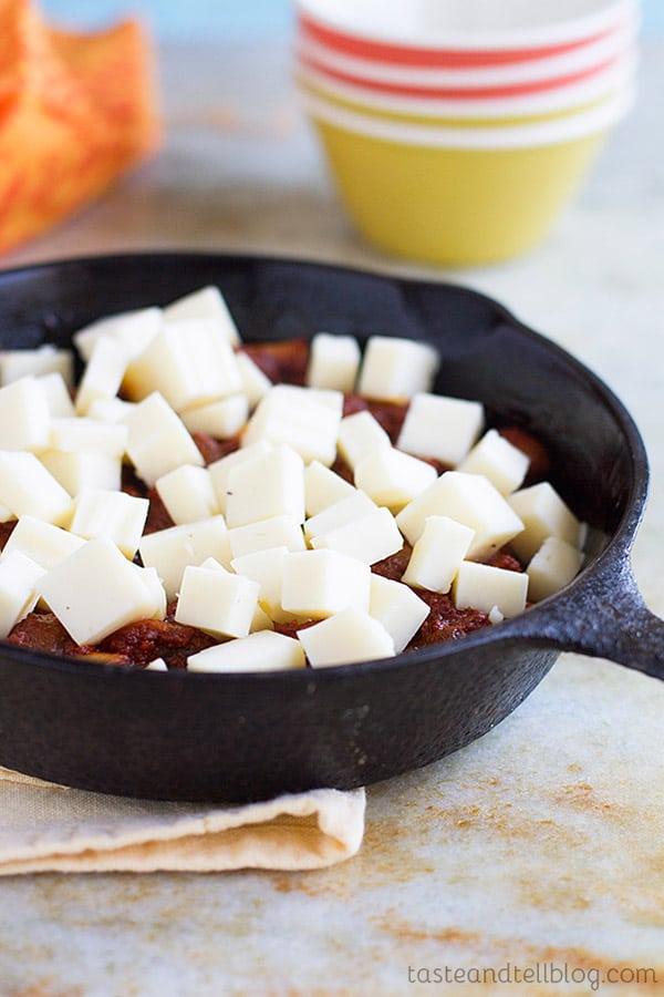 Chorizo Mushroom Queso Dip Recipe
