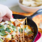 Chorizo Mushroom Queso Dip on Taste and Tell