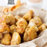 Crispy Chicken Nuggets on www.tasteandtellblog.com