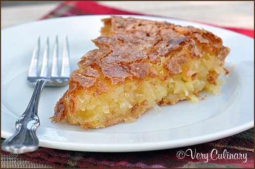 French Coconut Pie from Very Culinary