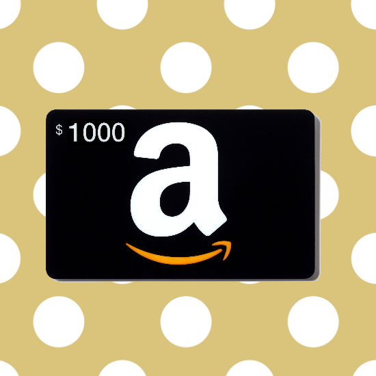 $1000 Amazon Gift Card Giveaway