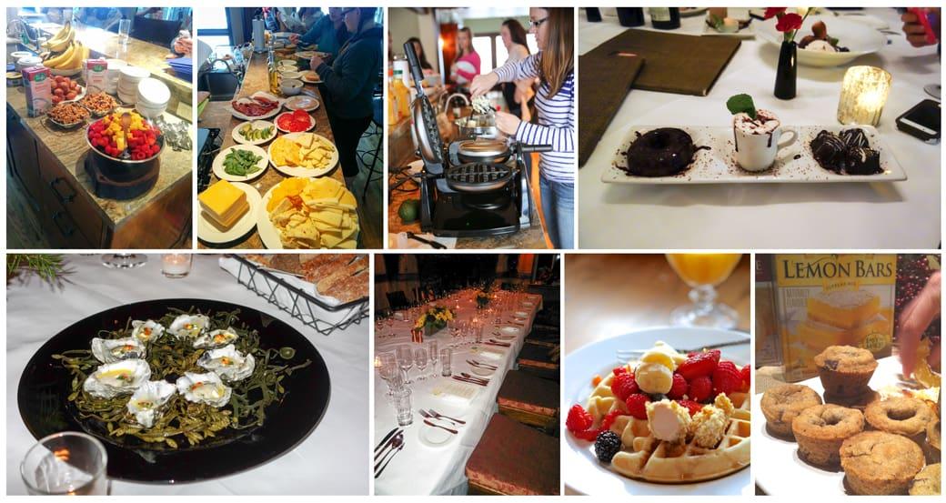 The food at Inspired Retreat in Park City Utah
