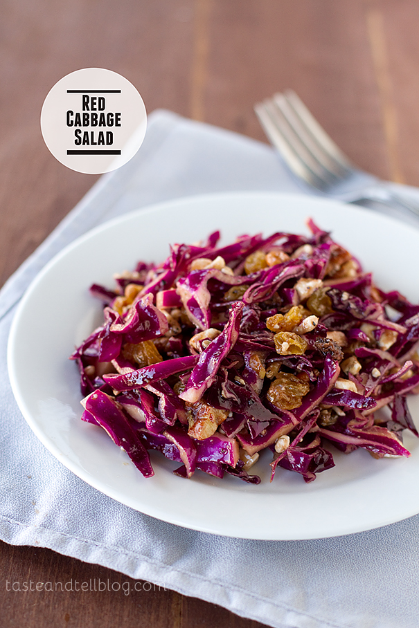 Red Cabbage Salad on Taste and Tell