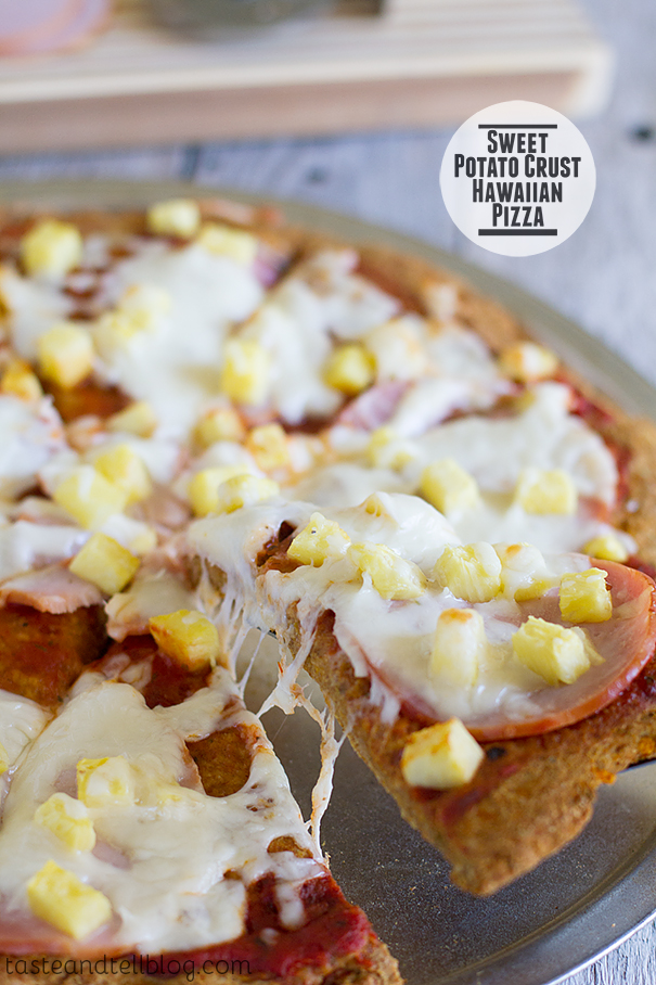 Sweet Potato Crust Hawaiian Pizza