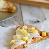 Sweet Potato Crust Hawaiian Pizza recipe on Taste and Tell