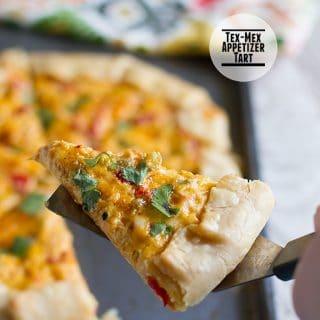 Tex Mex Appetizer Tart on Taste and Tell