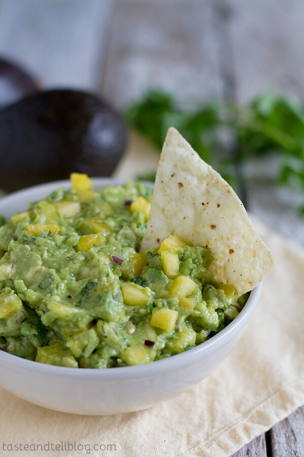 Tropical Guacamole recipe on Taste and Tell Blog