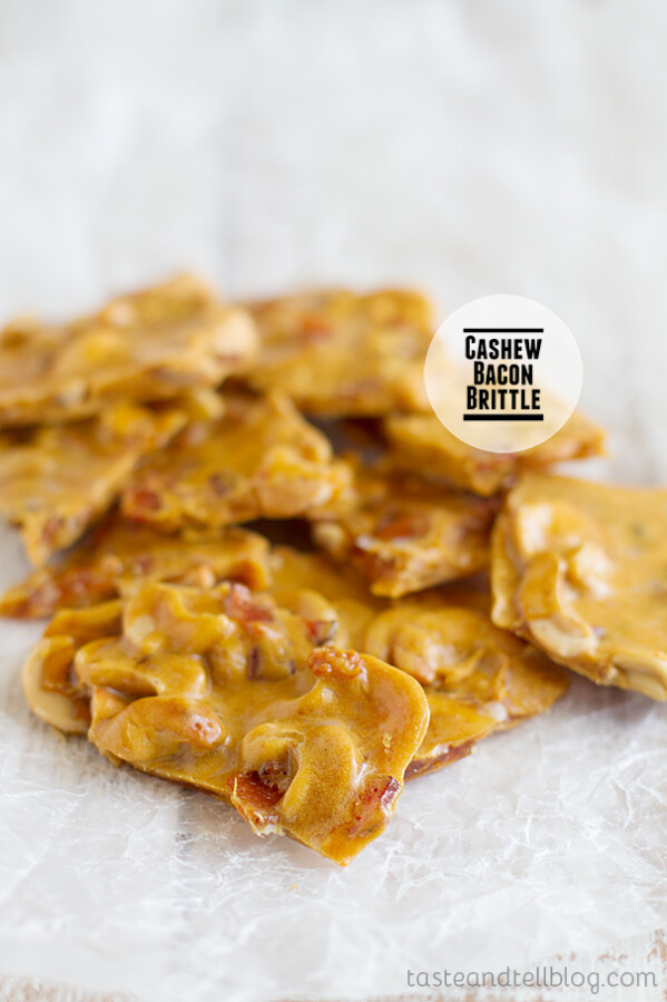 Cashew Bacon Brittle on Taste and Tell