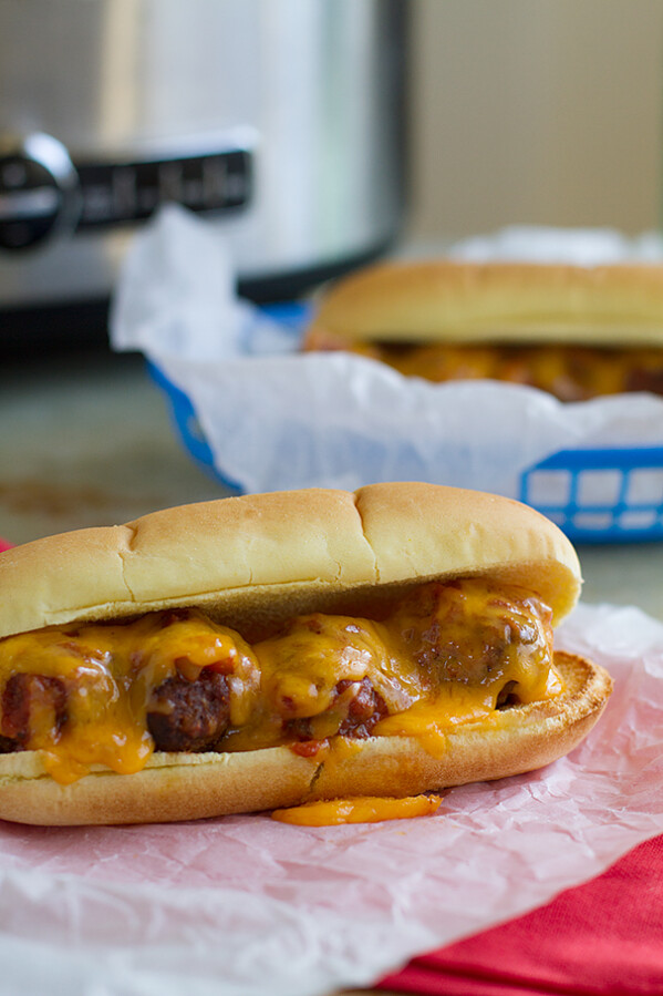 Slow Cooker Meatball Sandwiches