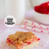 Coconut Cherry Almond Bars on Taste and Tell