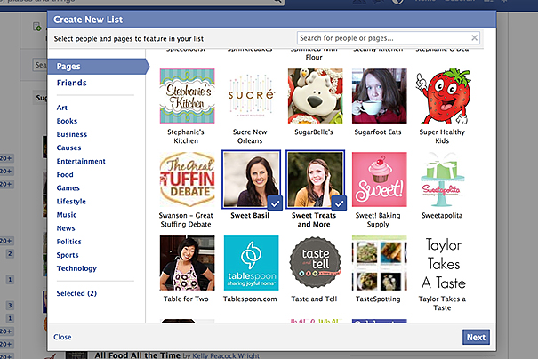 How To Create an Interest List on Facebook - Taste and Tell