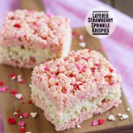 Layered Strawberry Sprinkle Krispies
