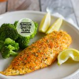 Parmesan Crusted Tilapia on Taste and Tell