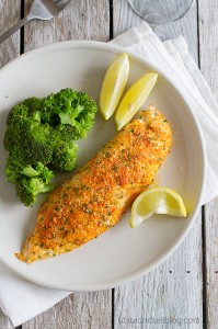 recipe for Parmesan Crusted Tilapia
