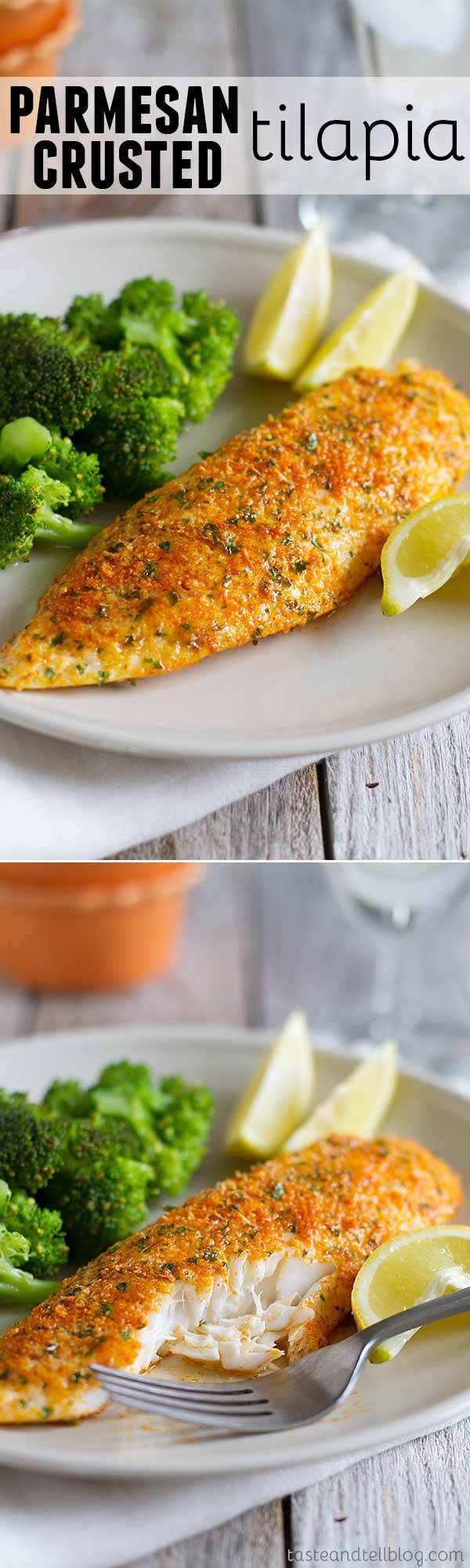 This Parmesan Crusted Tilapia Is A Simple Fish Recipe That Done In 20 Minutes And