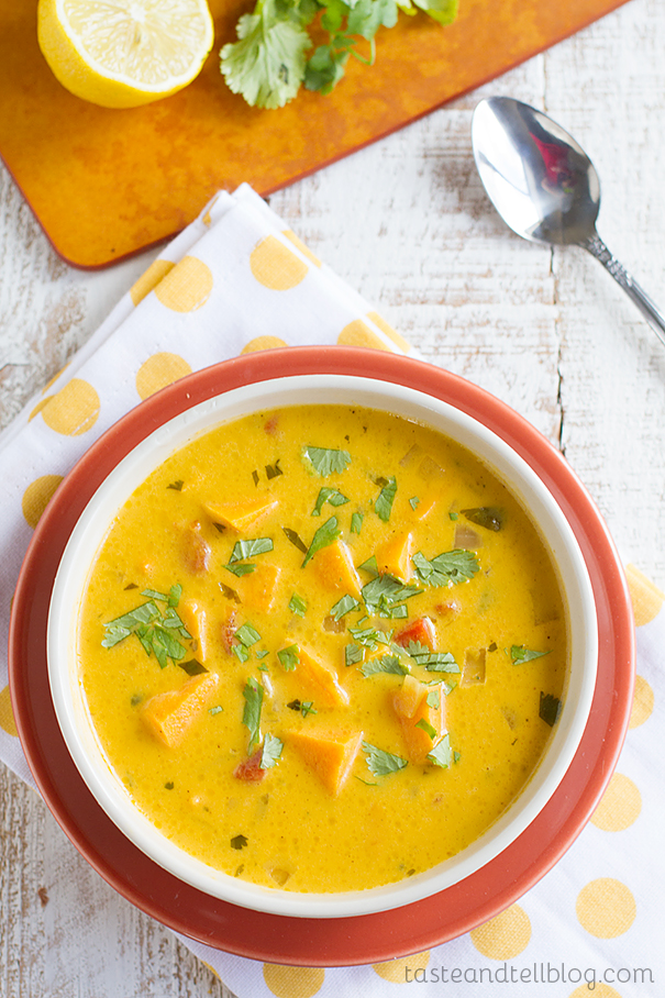 Roasted Red Pepper and Sweet Potato Soup recipe