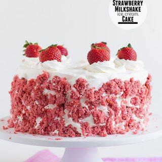 Strawberry Milkshake Ice Cream Cake on Taste and Tell