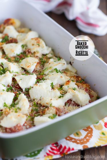 Baked Gnocchi with Ricotta on Taste and Tell