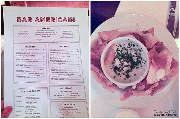 Bar Americain in New York City NY