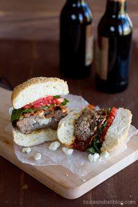 Blue Cheese Stuffed Chipotle Bacon BBQ Burgers