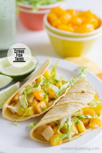 Citrus Fish Tacos on Taste and Tell