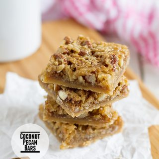 Coconut Pecan Bars on Taste and Tell