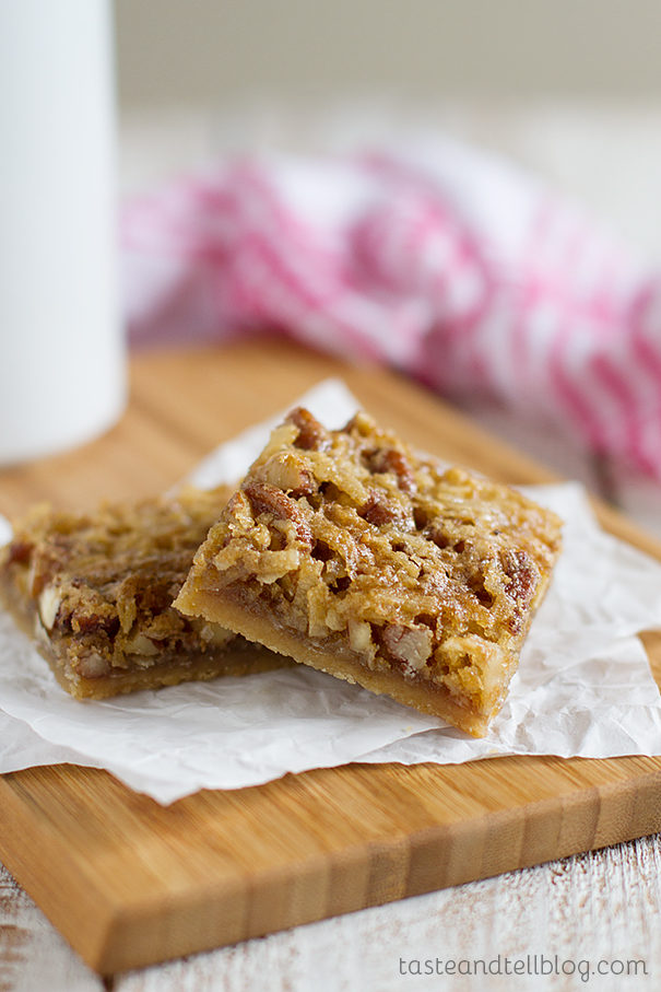 Coconut Pecan Bars - Taste and Tell