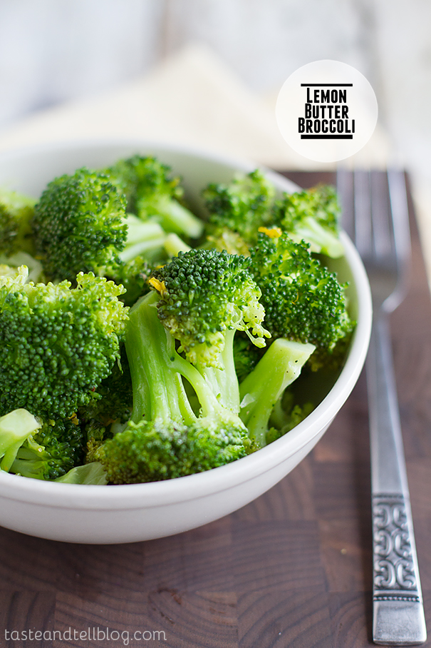 Lemon Butter Broccoli on Taste and Tell