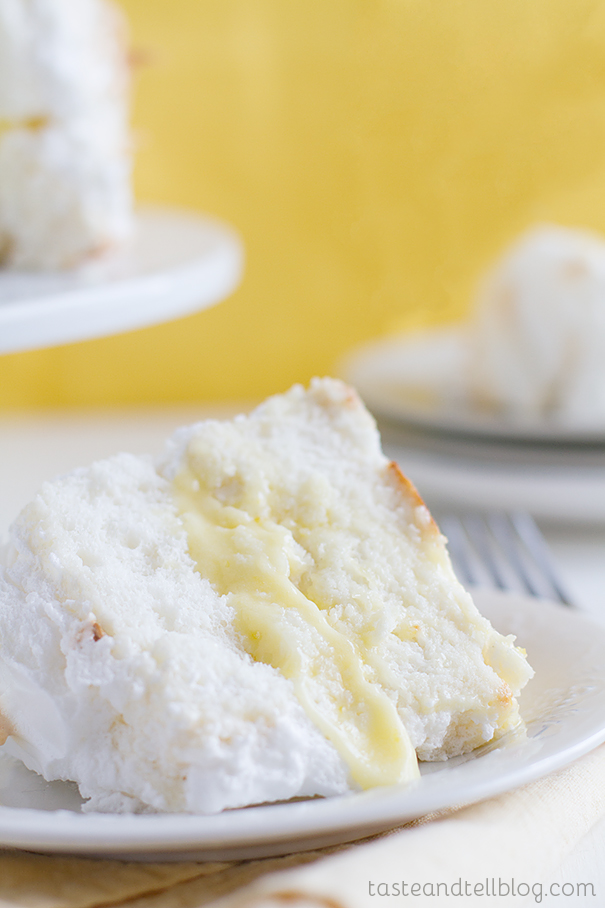 Lemon Angel Food Cake Roll Recipe