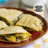 Mushroom Spinach Quesadillas on Taste and Tell