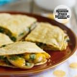 Mushroom Spinach Quesadillas on Taste and Tell