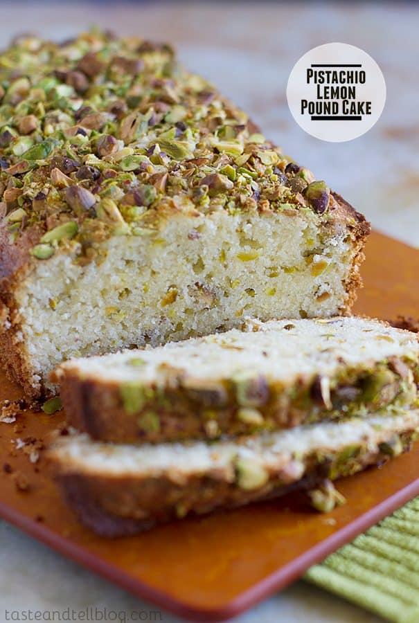 Pistachio Lemon Pound Cake
