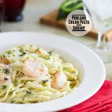 Poblano Cream Pasta with Shrimp on Taste and Tell