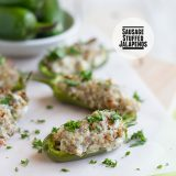 Sausage Stuffed Jalapenos on Taste and Tell